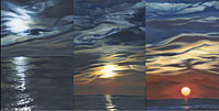Great Lake sold (triptych) 18 X 36